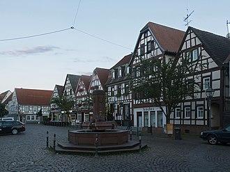 Nidderau - Image: Windecken, straatzicht Marktplatz poging 2 foto 6 2016 08 10 20.34