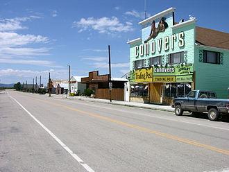 "Wisdom, Montana - The ""Trading Post"" store in Wisdom, Montana"