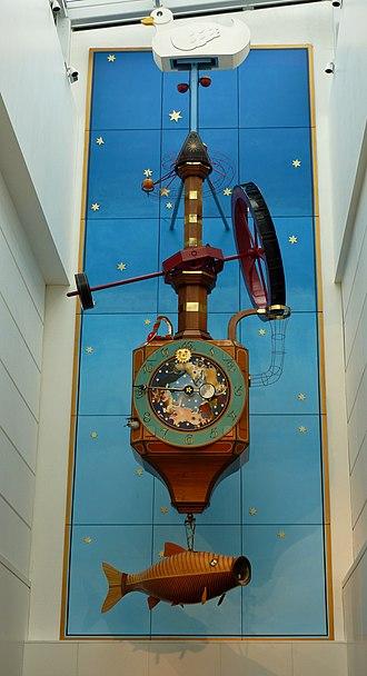Kit Williams - The Wishing Fish Clock, Regent Arcade, Cheltenham