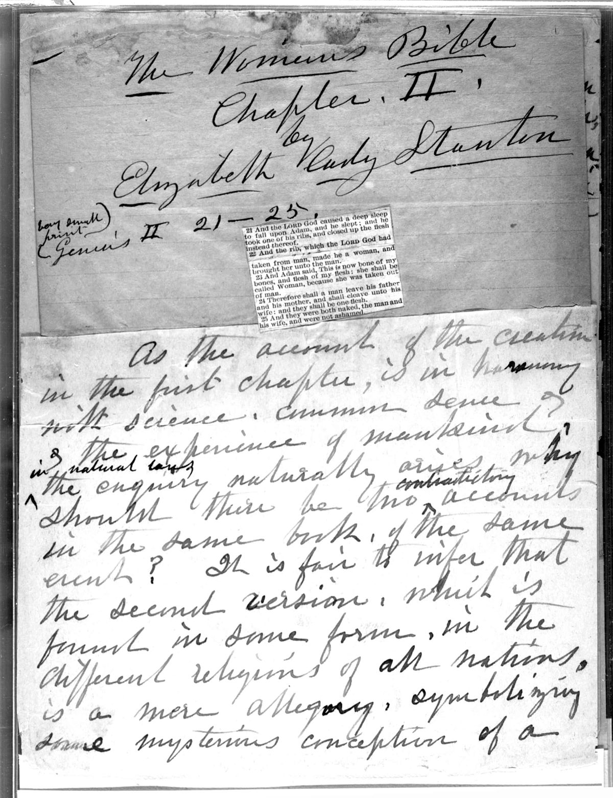 elizabeth cady stanton documents