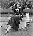 Woman, bench Fortepan 5406.jpg