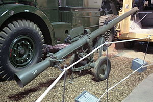 120 mm BAT recoilless rifle - A Wombat at Imperial War Museum Duxford