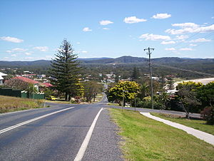 Woolgoolga, New South Wales - Looking down to Woolgoolga from the headland