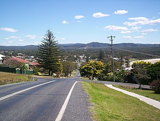 Woolgoolga, New South Wales - Looking down to Woolgoolga from the headland