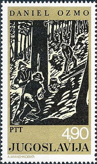 Daniel Ozmo - Woordcutters by Ozmo on a 1978 Yugoslav stamp