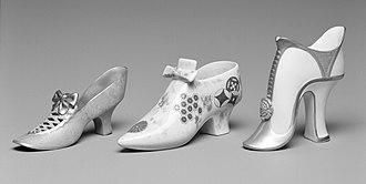 Royal Worcester - Worcester Royal Porcelain Company (1751-present). Slipper, ca. 1875. Brooklyn Museum