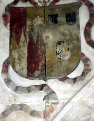 Arms of George Bromley, depicted on his tomb.