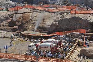 Programa de Aceleração do Crescimento - Construction work, with PAC funds, of the future Santo Antônio Dam, in Rondônia.