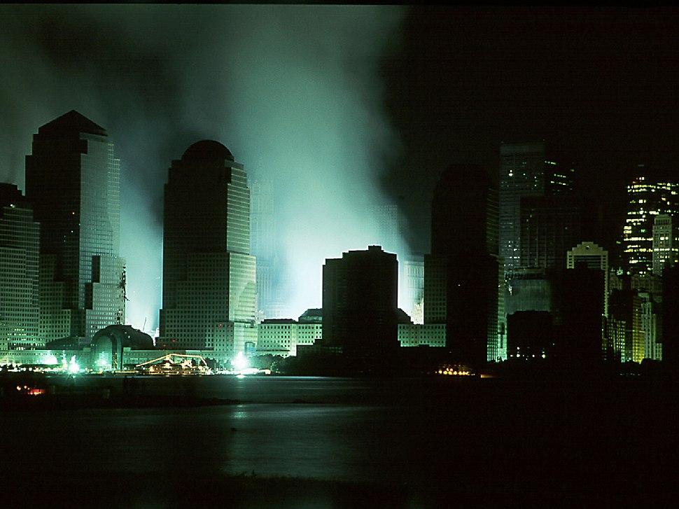 World Trade Center At Night Sept 16 2001