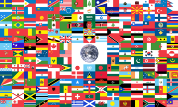 image relating to Flags of the World Printable Pdf known as Flag of Globe - Wikipedia
