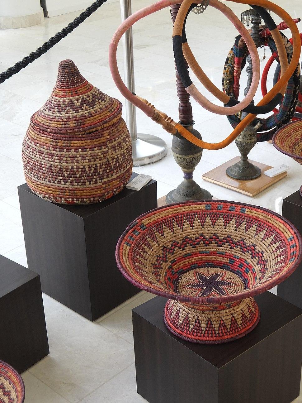 Woven baskets and nargillah