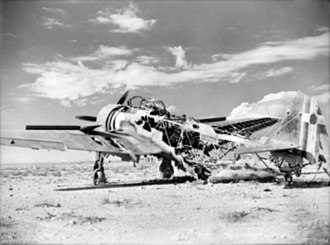 Attack on Nibeiwa - Image: Wrecked Breda Ba.65 1940