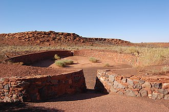 Wupatki National Monument - Image: Wupatki Ruins Ball Court