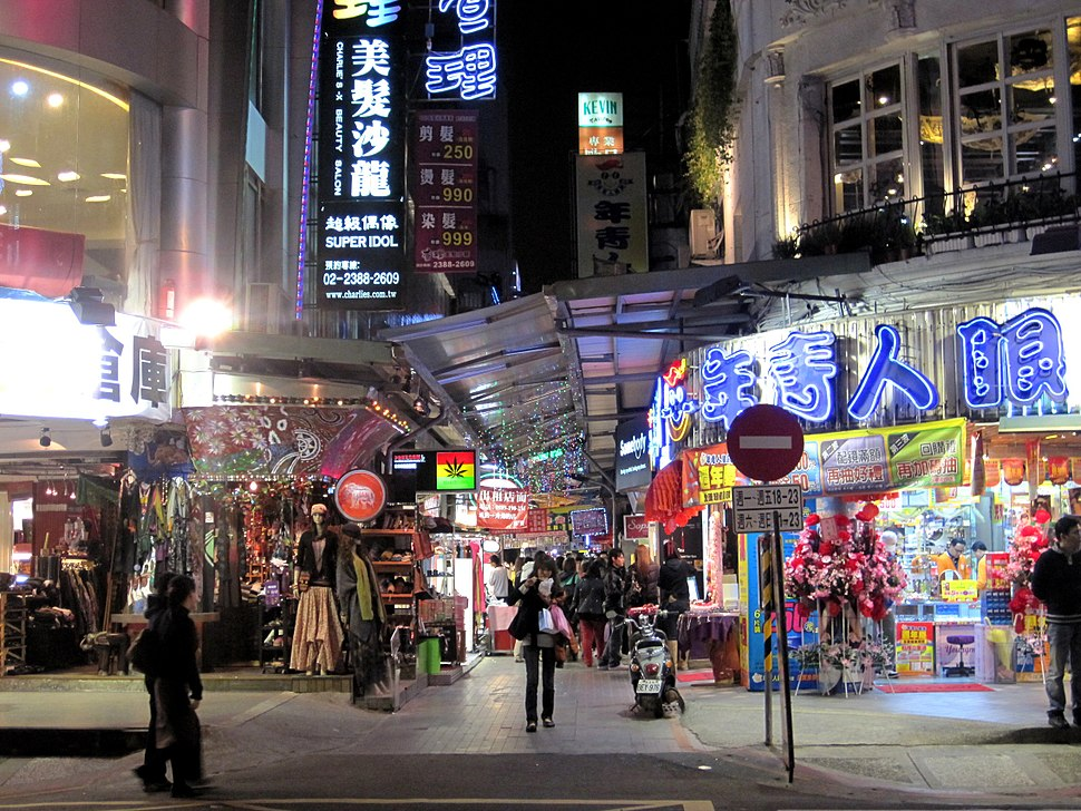 Ximending Side Alley at Night