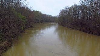 Yalobusha River - Yalobusha River at Robinson Bayou Road in Leflore County, Mississippi.