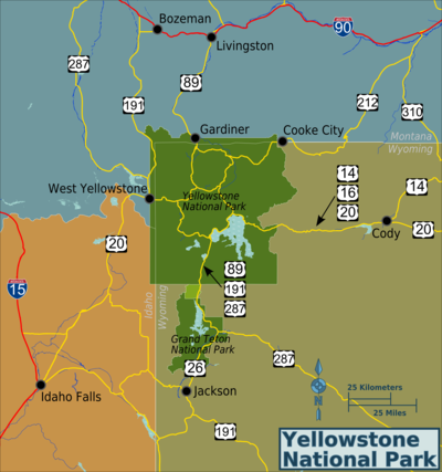 Yellowstone National Park – Travel guide at Wikivoyage on physical map of yellowstone, topographical map of yellowstone, street map of yellowstone, topo map of yellowstone, elevation map of yellowstone, aerial map of yellowstone, topography map of yellowstone, vegetation map of yellowstone, contour map of yellowstone, wildlife map of yellowstone, political map of yellowstone, landscape map of yellowstone, 3d map of yellowstone, distance map of yellowstone,