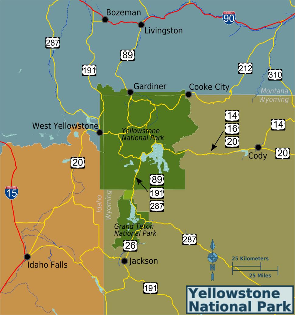 Yellowstone-area-map