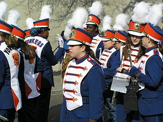 Parade - Yonkers High School, New York students get ready for the Yonkers St. Patrick's Day Parade.