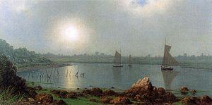 York Harbor, Maine - York Harbor, Coast of Maine, 1877, by Martin Johnson Heade
