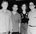 Young Julia Wolfe with composer John Cage, David Lang, and Michael Gordon.jpg