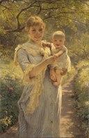 Young Mother with a Child in a Garden (Bertha Wegmann) - Nationalmuseum - 18363.tif