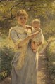 Young Mother with a Child in a Garden (Bertha Wegmann) - Nationalmuseum - 18363.tif