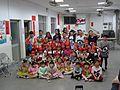 Yu Yang Dance girls at Dubei Village lantern festival raffle party 20170210.jpg