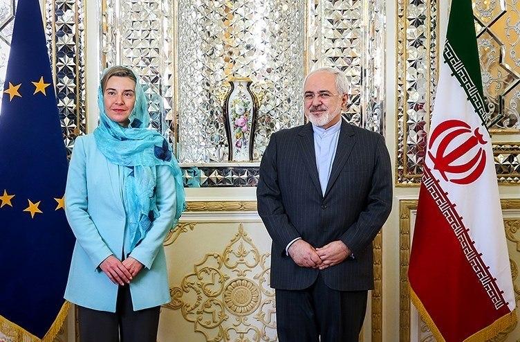 Zarif Mogherini meet in Tehran 2016 (1)