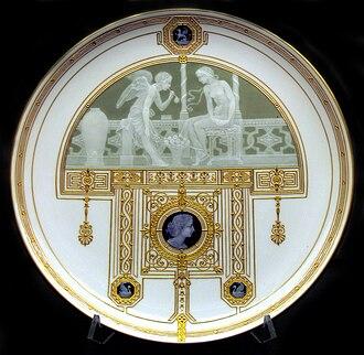 Pâte-sur-pâte - Berlin porcelain plate, 1900.