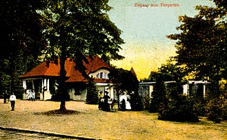Rostock Zoo - Entrance to Rostock Zoo in the twenties.