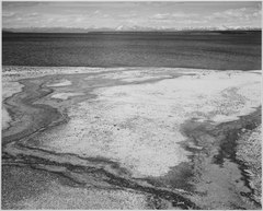 """Yellowstone Lake - Hot Springs Overflow, Yellowstone National Park,"" Wyoming., 1933 - 1942 - NARA - 520003.tif"