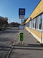'Közterületfenntartó Zrt.' bus stop, toward Szent Imre Square, 2020 Csepel.jpg
