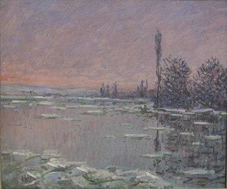 Dunedin Public Art Gallery - Image: 'La Débâcle', oil on canvas painting by Monet, 1880, Dunedin Public Art Gallery
