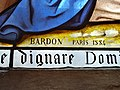 Église de Clairvaux-les-Lacs - Signature vitrail Bardon Paris 1884 (juil 2018).jpg