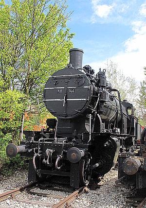 BBÖ Class 81 - ÖBB 58.744 (ex DRB 58 744, né BBÖ 81.44) at the Heizhaus (Strasshof Railway Museum)