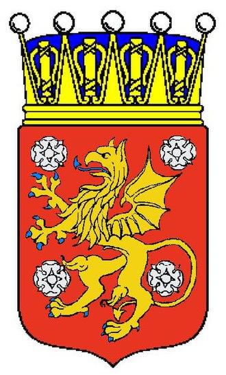 Östgöta nation (Uppsala) - Image: Östergötlands vapen med krona