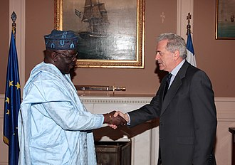 Greece–Nigeria relations - Foreign Minister Dimitris Avramopoulos met at the Foreign Ministry with the Ambassador of the Federal Republic of Nigeria Mr. Ayodeji Lawrence Ayodele. March 26, 2013
