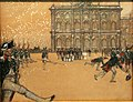 Бенуа А. Н. Развод караула перед Зимним дворцом при Павле I. 1903.jpg