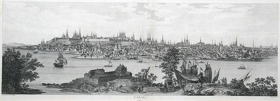 Вид Казани в 1767 году