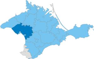 Saky Raion - Image: Карта схема Крыма Сакский район