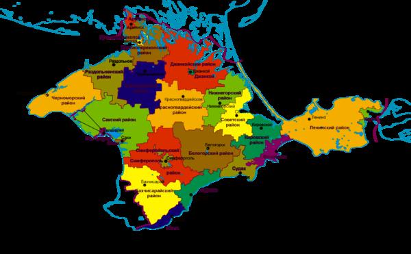 Административная карта Крыма