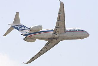 Tupolev Tu-334 - A Tu-334 performing at MAKS 2007