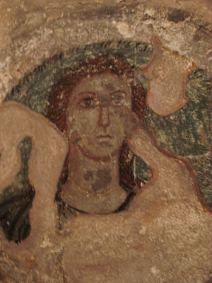Roman Crimea - A Greek fresco depicting the goddess Demeter, from Panticapaeum in the ancient Bosporan Kingdom (a client state of the Roman Empire), 1st century AD, Crimea.