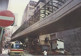 Central–Mid-Levels escalator and walkway system - Central–Mid-Levels escalators under construction in the early 1990s