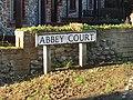 -2019-12-30 Street Sign, Abbey Court, Bacton.JPG