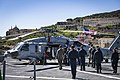 -USS Mount Whitney (LCC 20) medical evacuation drill in Gaeta, Italy, May 7, 2020- (49870147768).jpg