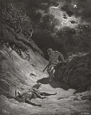 English: Cain Slays Abel (Gen. 4:8-15) Русский...