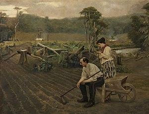 Pedro Weingärtner: Tempora mutantur, óleo sobre tela, 1898