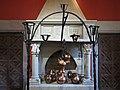021 Monestir de Sant Benet de Bages, estances de Ramon Casas, llar de foc del menjador.jpg