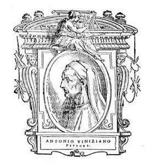 "Antonio Veneziano (painter) - Illustration of Antonio Veneziano from ""Le Vite"" by Giorgio Vasari"